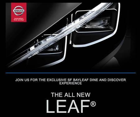 Uue Nissan Leafi plakat