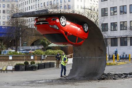 Vauxhall Corsa sculpture