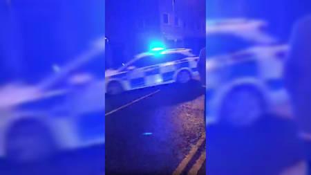 Seina tabanud politseiauto