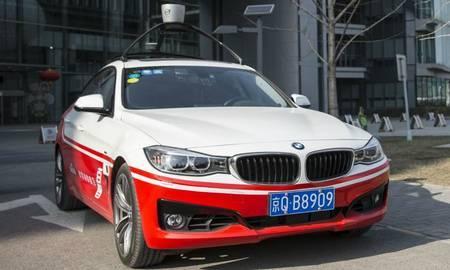 BMW-l baseeruv Baidu isesõitev auto