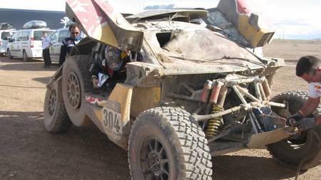 Carlos Sainz'i Peugeot pärast õnnetust