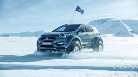 Ernest Shackletoni auks Hyundai Santa Fega Antartikasse