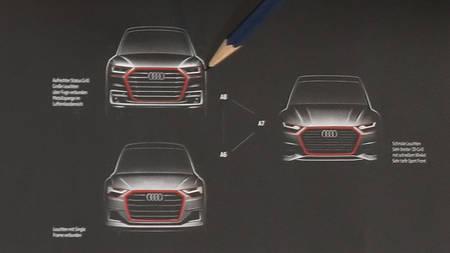 Audi A8, A7 ja A6 visandid