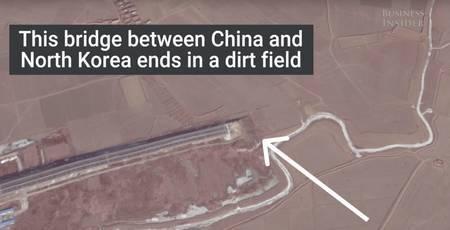 Hiina sild, mis juhatab Põhja-Korea kõrbe