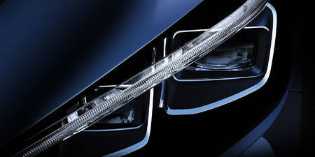 Nissan Leaf headlight teaser