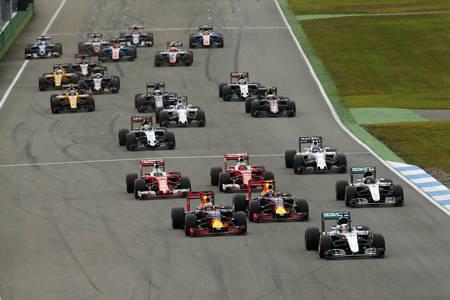 Lewis Hamilton, Nico Rosberg, Kimi Räikkönen, Daniel Ricciardo, Max Verstappen, Sebastian Vettel, Ge