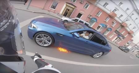 BMW M5 süttis